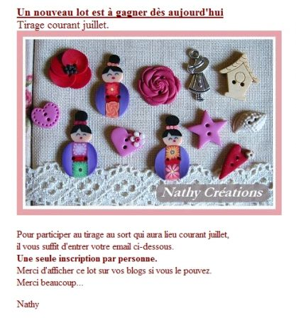 Concours Nathy Creations juillet
