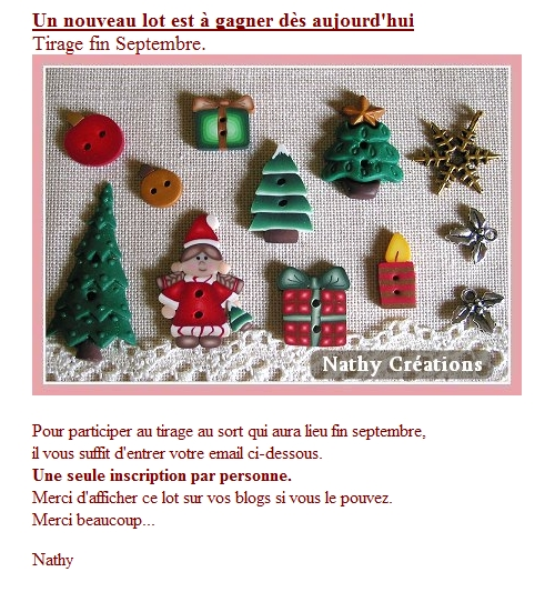 Concours Nathy Creations septembre